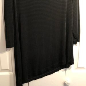 Chico's Tops - Chicos size 3 black asymmetrical tunic. like new